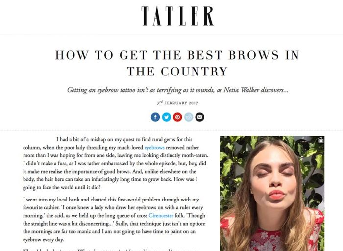 How to get the best brows in the coutry - Tatler Magazine